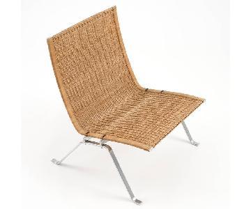 Poul Kjaerholm PK22 Lounge Chair in Wicker