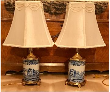 Spode Asian Blue & White Table Lamps