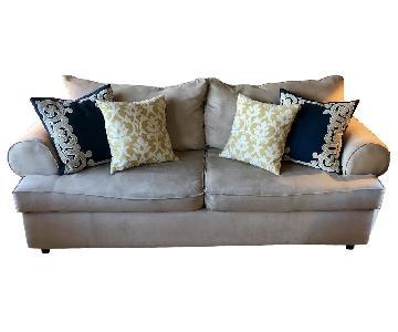 Beige Microfiber Sofa