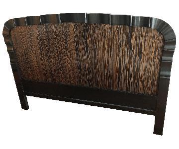 Free-Standing Macassar Wood Headboard