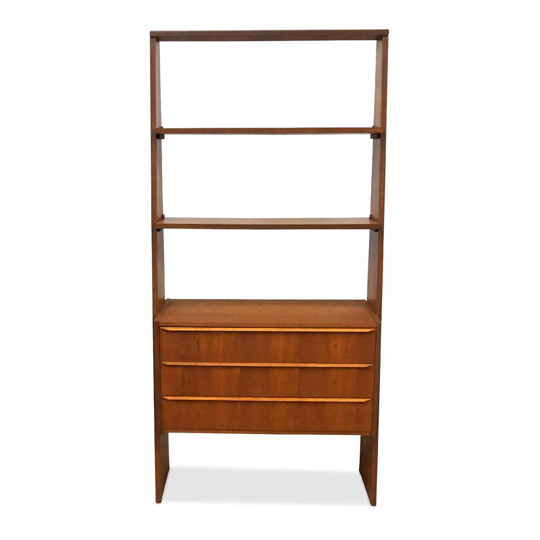 Danish Mid Century Bookcase w/ Storage