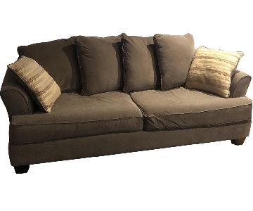 Raymour & Flanigan Grey Fabric Sleeper Sofa