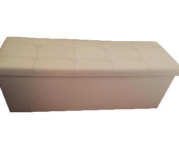 Cream Ottoman w/ Storage
