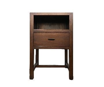 Room & Board Walnut Mondo One-Drawer Nightstand