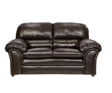 Simmons Upholstery Sawyers Black Loveseat