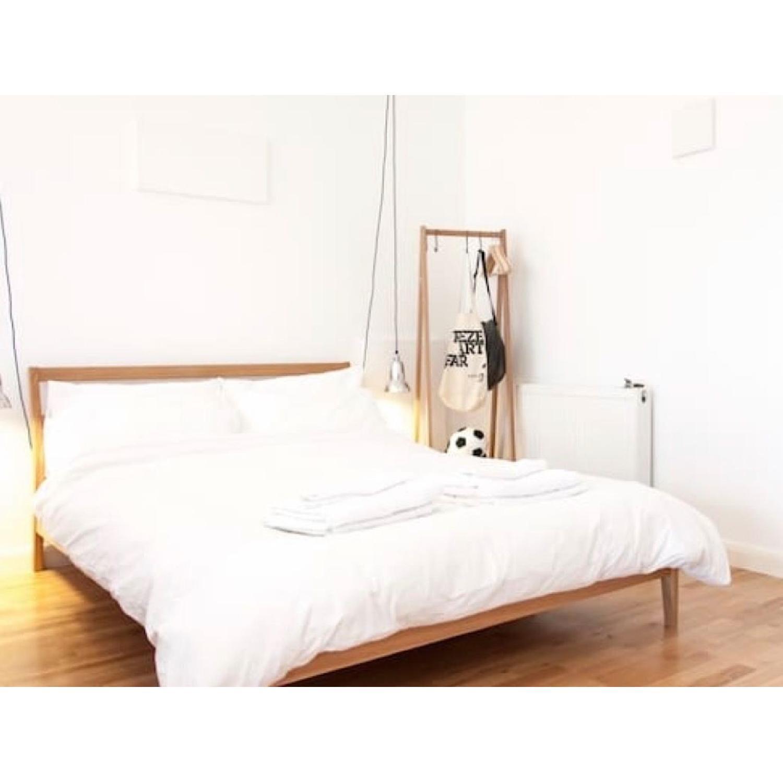 Muji Solid Ash Wood Bed Frame 1