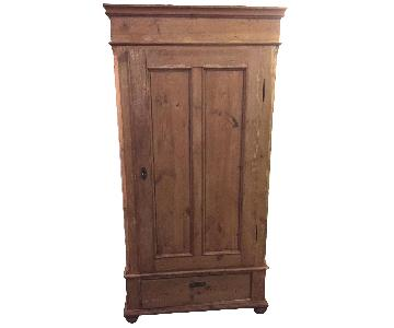 Antique19th Century Swedish Stripped Pine Armoire