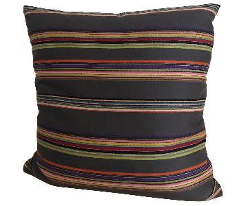 Paul Smith Nylon Striped Wool Pillows