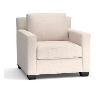 Pottery Barn York Square Arm Upholstered Armchair