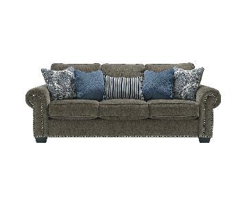 Ashley Navasota Grey 3-Seater Sofa