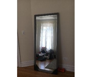 Bed Bath & Beyond Dark Grey Framed Full Length Floor Mirror