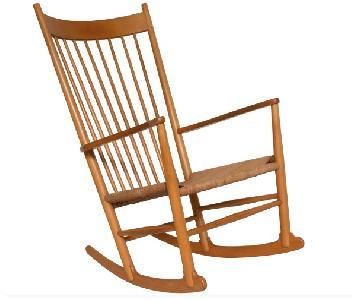 Vintage Hans Wegner J16 Beech Rocking Chair