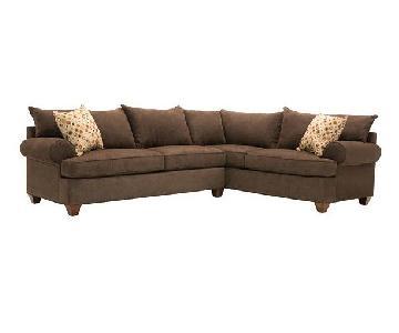 Raymour & Flanigan Vegas 2-Piece Brown Sectional Sofa