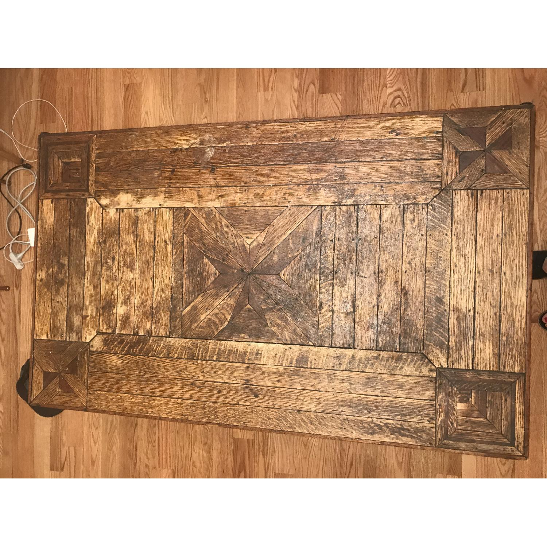 ... Rustic Reclaimed Wood Farmhouse Table 2 ...