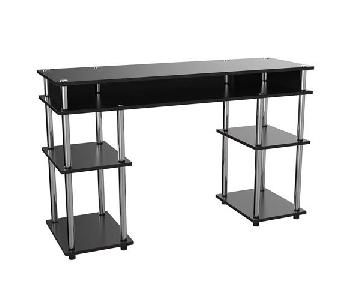 Convenience Concepts Designs2Go Black Wood & Metal Desk