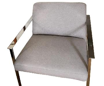 CB2 Cue Grey Lounge Chair