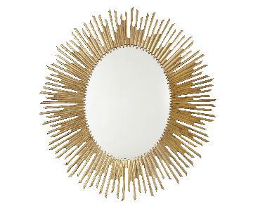 Bernhardt Salon Gold Oval Mirror