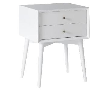 West Elm Mid-Century Nightstand in White