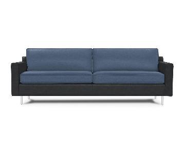 Mitchell Gold + Bob Williams Hunter Leather Sofa in Blue