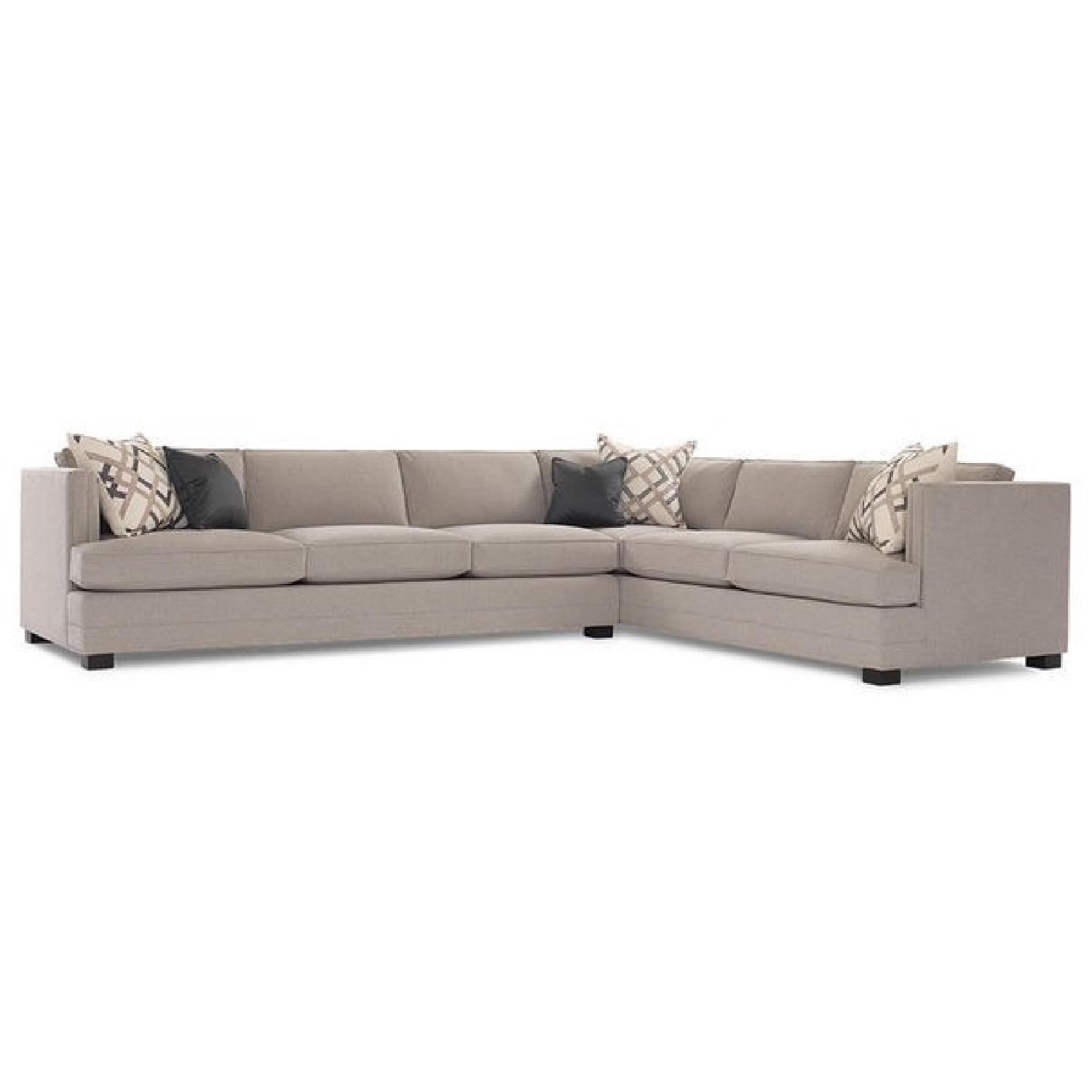 Mitchell Gold + Bob Williams Keaton Sectional in Taupe Grey-0