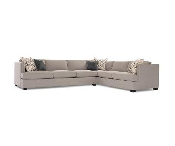 Mitchell Gold + Bob Williams Keaton Sectional in Taupe Grey