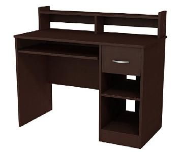 South Shore Axess Desk w/ Keyboard Tray in Chocolate