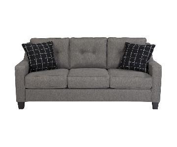 Ashley Brindon Charcoal Gray Contemporary Sofa