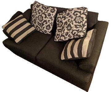 Dark Grey Two Seat Sofa w/ Pillows