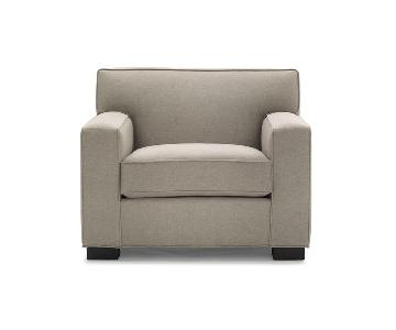 Mitchell Gold + Bob Williams Jean-Luc Chair in Pewter Grey