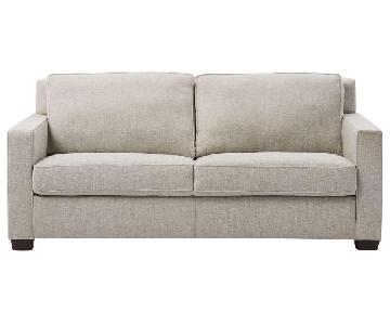 West Elm Henry Queen Sleeper Sofa in Performance Velvet Grey