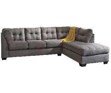 Jennifer Convertibles 2 Piece Sleeper Sectional Sofa
