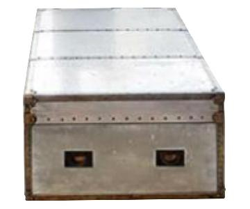 Metal & Leather Steamer Trunk