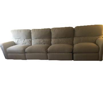 Custom Made Reclining 4-Seater Sofa