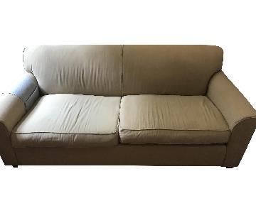 Jennifer Convertibles Off-White Sleeper Sofa