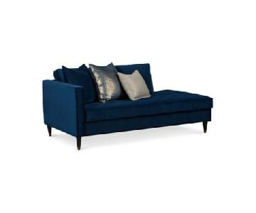 Macy's Midnight Blue Sleeper Chaise