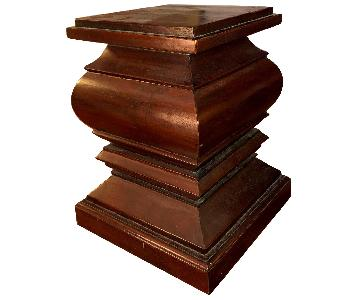 Crate & Barrel Indonesian Solid Mahogany Plant/Lamp Stand