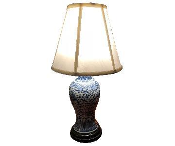Antique Blue & White Porcelain Lamp
