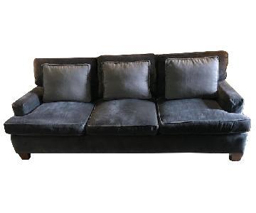 Baker Modern Sofa in Java Finish w/ Maple Solids