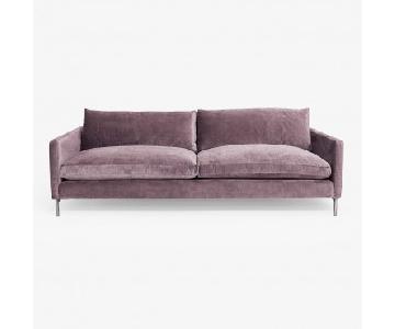 ABC Carpet and Home Purple Velvet Sofa