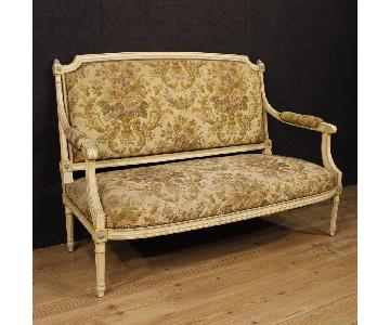 20th Century Louis XVI Style French Lacquered Sofa