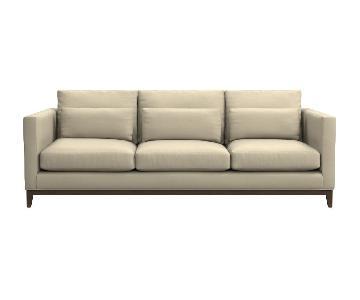Crate & Barrel Linen 3 Seater Sofa