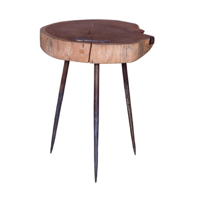 Designegallerie Viziers Acacia Wood Stool Designegallerie