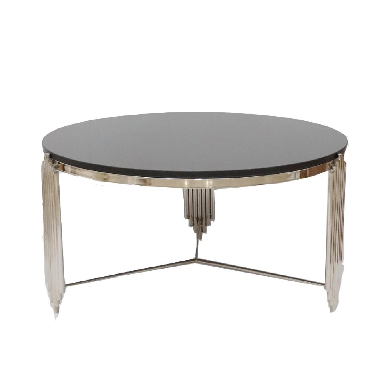 Designegallerie Laramie Marble Top Coffee Table Designegallerie