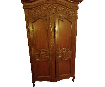 Fortunoff Mahogany Wood Armoire