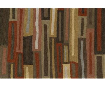 Crate & Barrel Metropolis Multicolor Wool Rug