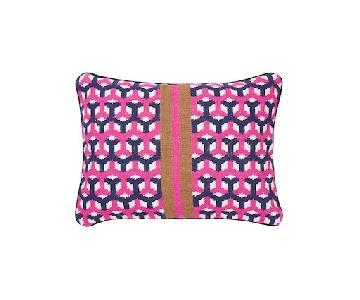 Jonathan Adler Geo Needlepoint Hex Weave Pillows