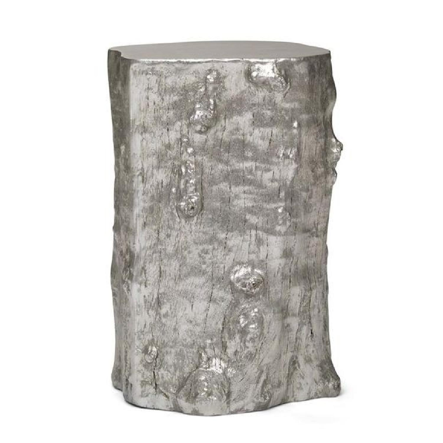 Mitchell Gold + Bob Williams Log Pull-Up Silver Table