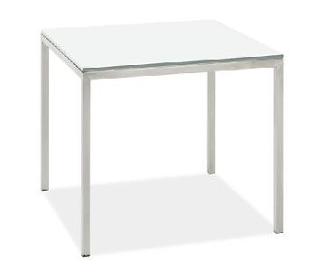 Room & Board Portica Stainless Steel Tempered Glass Tables