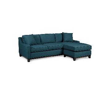 Macy's Keegan 2 Piece Fabric Sectional Sofa