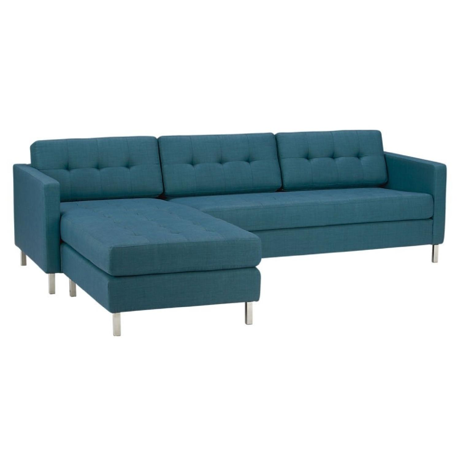 CB2 Ditto II Sectional Sofa In Peacock Color ...